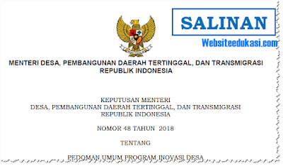 Permendesa PDTT Nomor 48 Tahun 2018