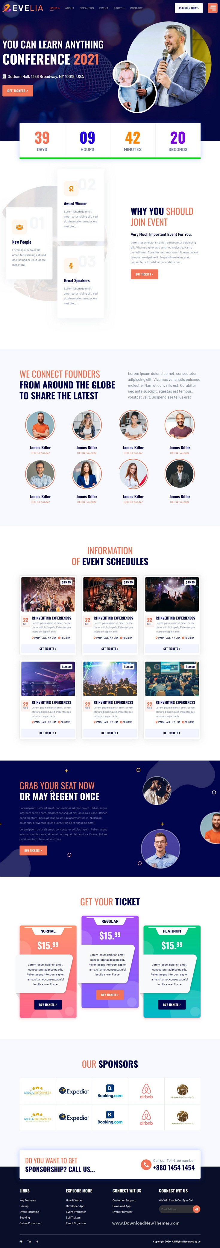 Event and Conference Management HTML Template