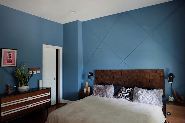 budget design on a dime trim headboard DIY bedroom redo refresh