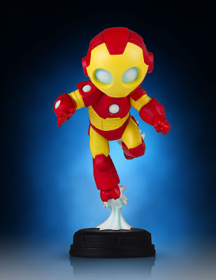 Animated Iron Man Mini Marvel Statue by Skottie Young & Gentle Giant