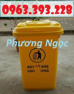Thùng rác 60L nắp kín, thùng rác nhựa HDPE, thùng rác công cộng 335e48881d52ff0ca643