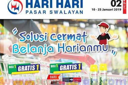 Katalog Hari Hari Pasar Swalayan Promo Terbaru 10 - 23 Januari 2019