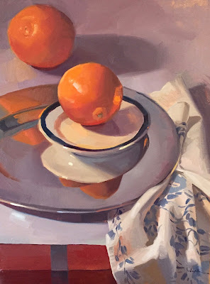 art painting oil painting of oranges by Sarah Sedwick
