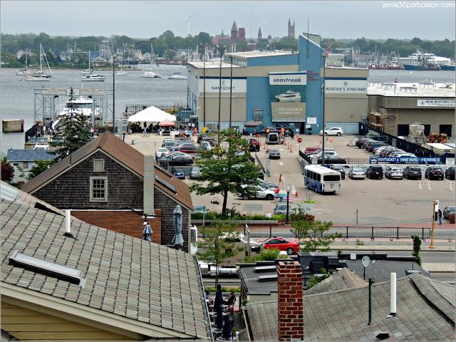 Vistas desde la Terraza del Museo de las Ballenas de New Bedford