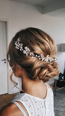 peinado de novia cabello recogido