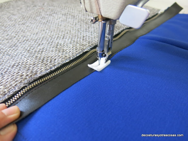 coser piel con prensatelas teflón