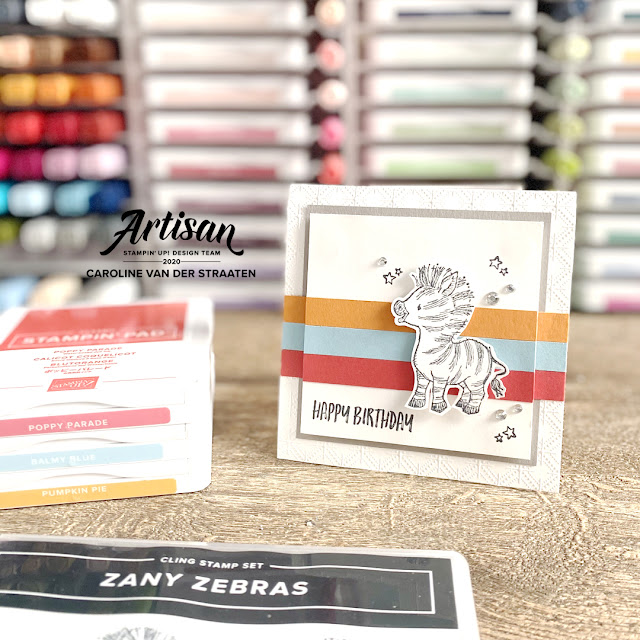 Stampin' Up! - Zany Zebra's - Stampin' Fancy Friday - Caro's Kaartjes