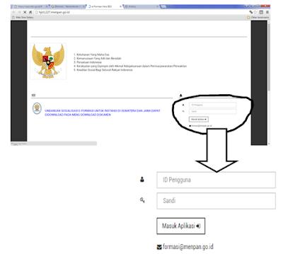 halaman login e formasi