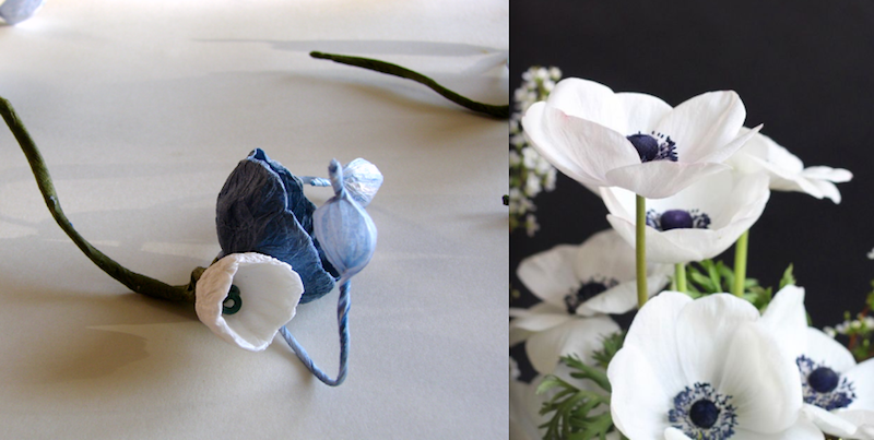 boutonniere blu bianco per matrimonio ecologico . Wedding inspiration colors