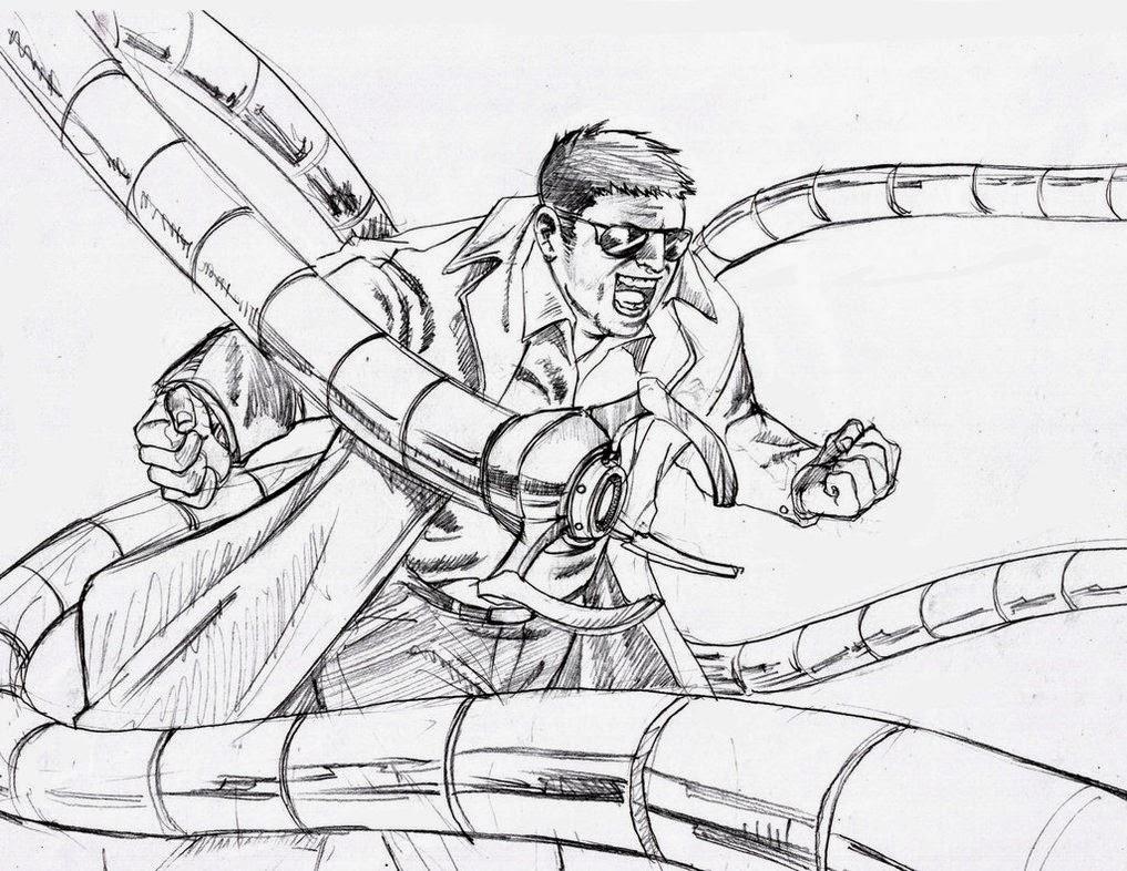MANVSDOCTOR OCTOPUS Coloriage Spiderman New Coloring ...