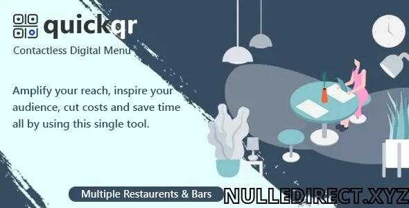 QuickQR 5.8 Nulled - Saas - Contactless Restaurant QR Menu Maker