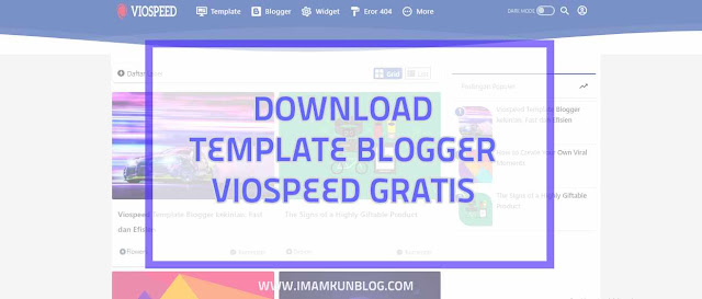 Download Viospeed Template Blogger Super Cepat