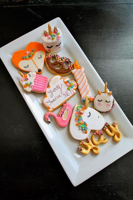 Unicorn birthday cookies @www.thecookiecouture.com