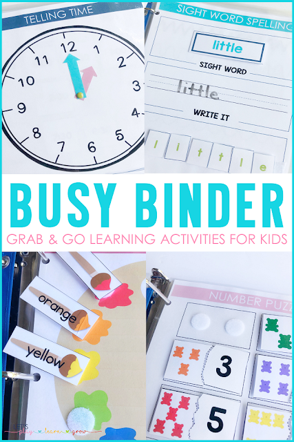 Preschool Busy Binder