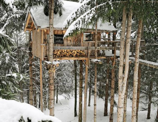 I've Seen A Lot Of Awesome Treehouses But This One Takes The Cake! (7 Pics)