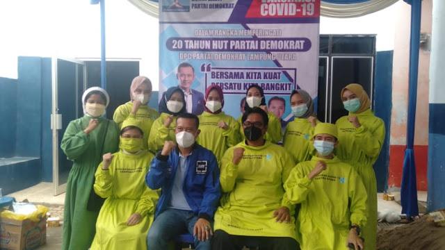 DPC Demokrat Kabupaten Lampung Utara Gelar Kegiatan  Suntik Vaksin