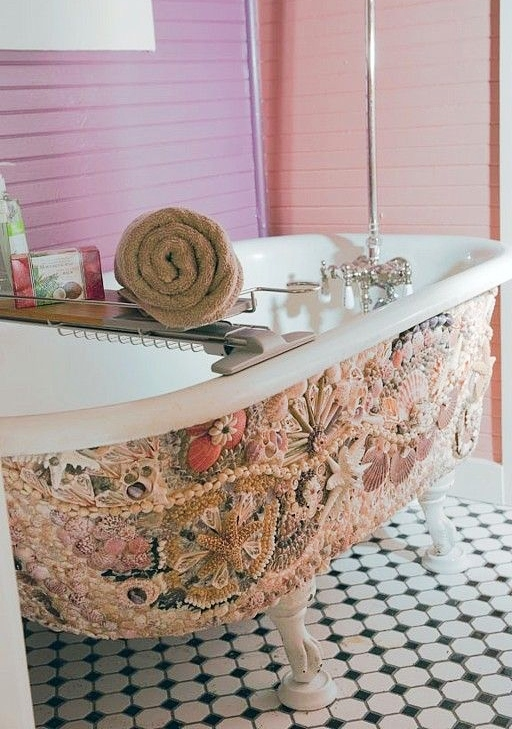 Shell Mosaic Bathtub