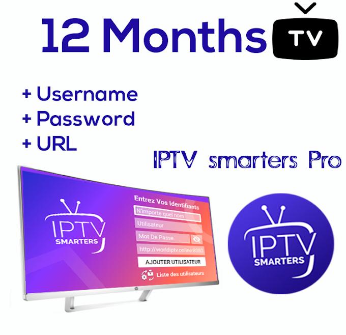 iptv pro 12 months