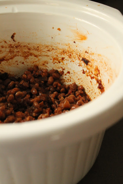 Featured Recipe | Crock Pot Boston Baked Beans from Life on Food #recipe #SecretRecipeClub #crockpot #sidedish