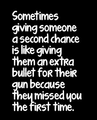Sometimes giving a person a second chance...