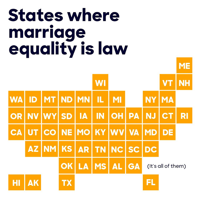 states where marriage equality is legal
