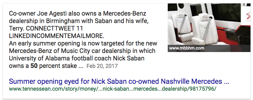 Tennessean Story Money Real Estate 2017 02 20 Summer Opening Eyed Nick Saban Co Owned Nashville Mercedes Benz Dealership 98175796