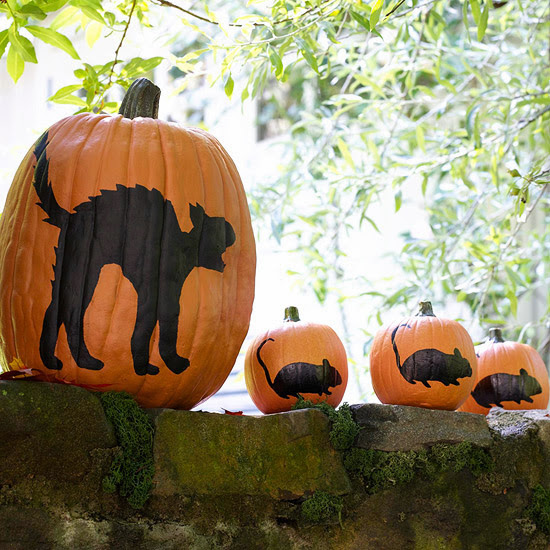 Modern Furniture: Easy Painted Pumpkins : 2013 Halloween