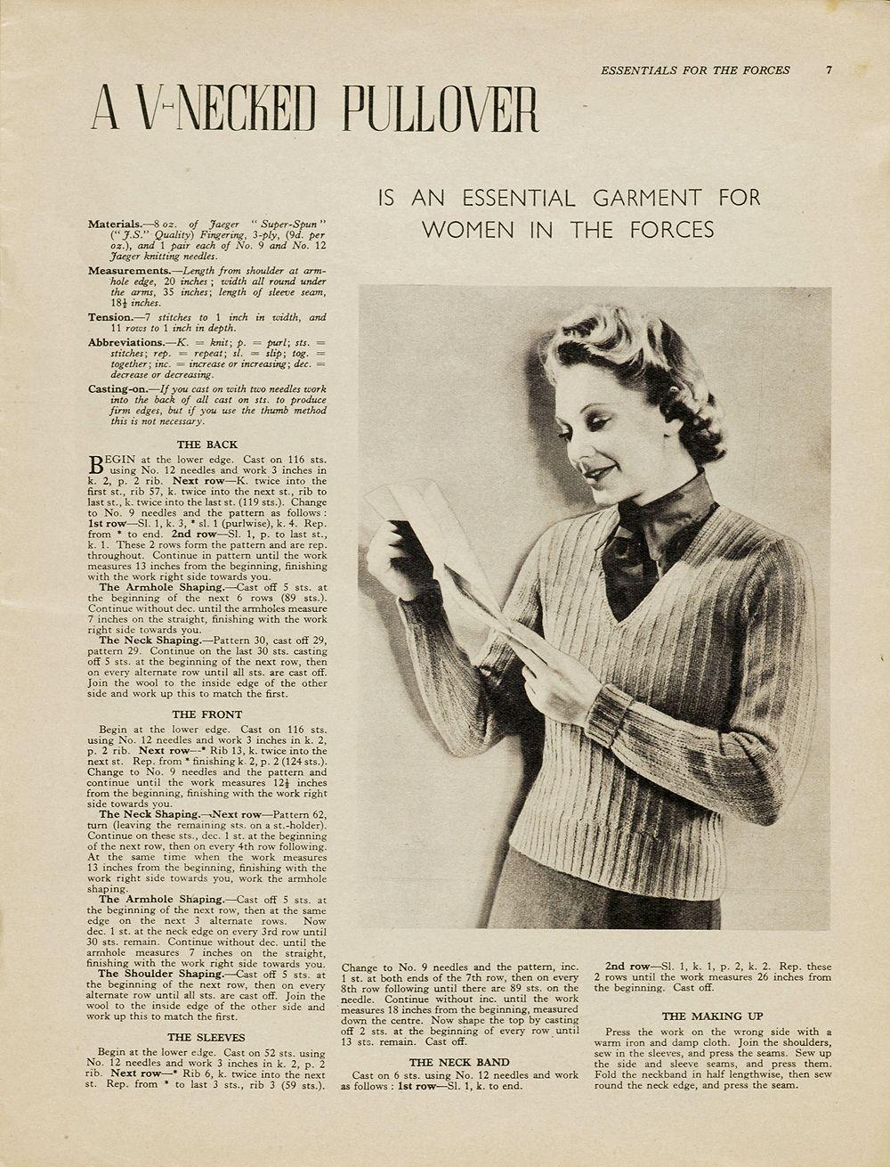 EWESPECIAL: Vintage Knitting Patterns