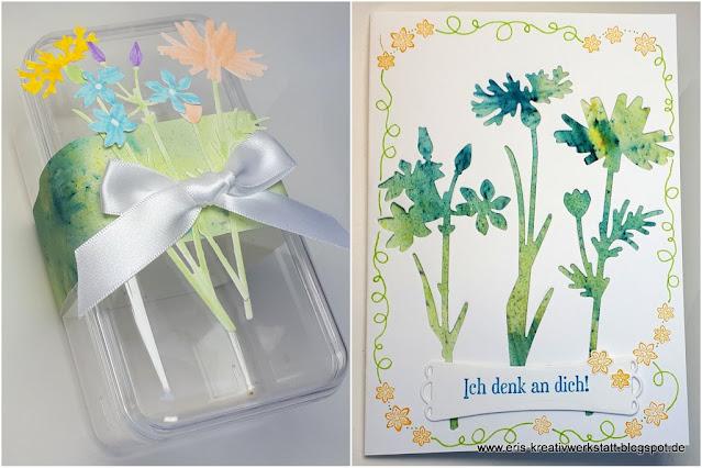Karte und Verpackung mit Wiesenruhe Stampin' Up! www.eris-kreativwerkstatt.blogspot.de