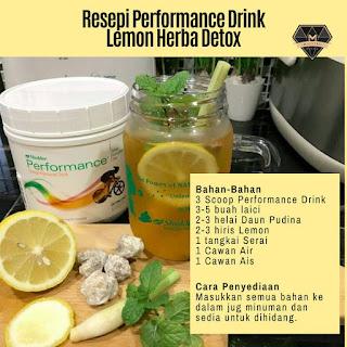 Resepi Performance Drink Shaklee