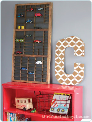Shelf for matchbox cars
