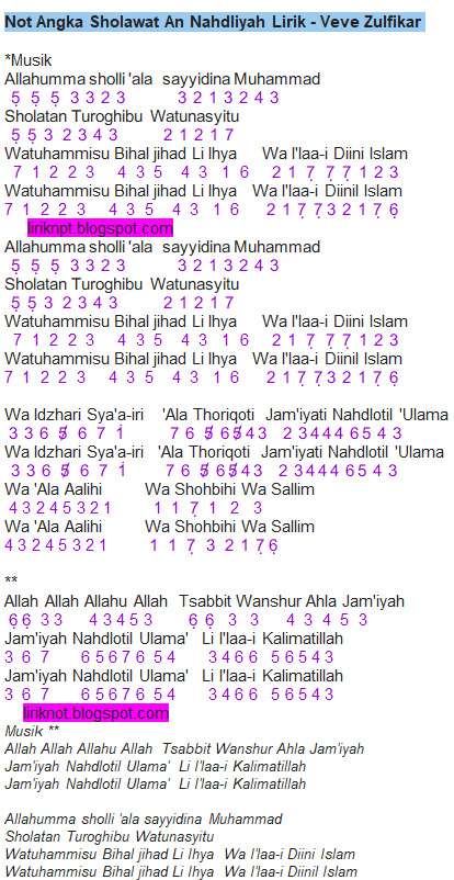 Kunci Gitar Sholawat Nariyah : kunci, gitar, sholawat, nariyah, Angka, Lirik, Sholawat, An-Nahdliyah, (Veve, Zulfikar), Dunia