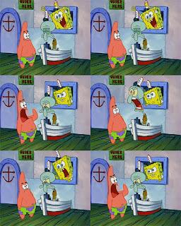 Polosan meme spongebob dan patrick 54 - patrick pesan krabby patty