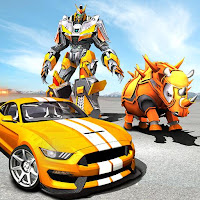 Rhino Robot Car transforming – City battle Mod Apk