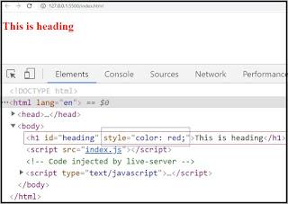 js code live server