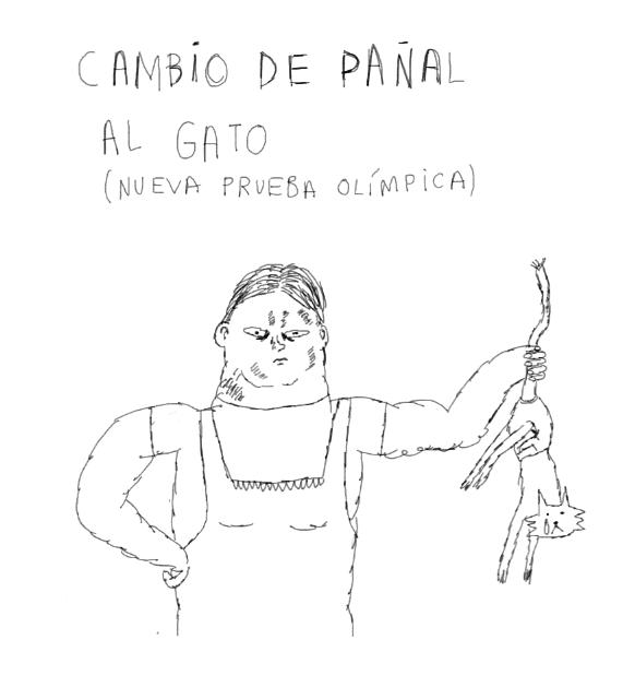 CAMBIO DE PAÑAL AL GATO (NUEVA PRUEBA OLÍMPICA)