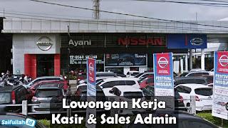 Lowongan Kerja Kasir & Sales Admin Nissan (Dealer Mobil) Pontianak