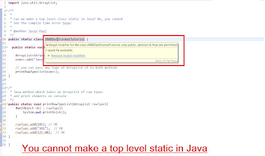 Difference between static and non static nested class in Java? Example