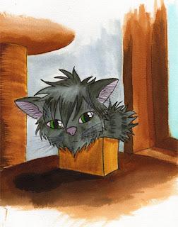 Tyrrin Hexenkater in der Schachtel, Illustration: Mie Dettmann