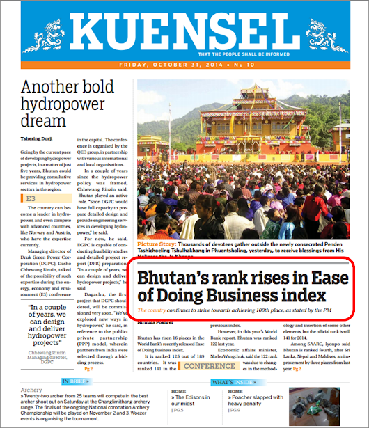 Is it Really Easier to Do Business in Bhutan?