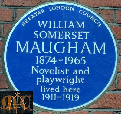 Maugham's plaque in London