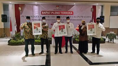 Berikut, Nomor Urut Tiga Paslon Bupati di Pilkada Kabupaten Purworejo