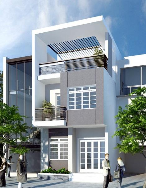 thiết kế nhà 2 tầng hiện đại đẹp