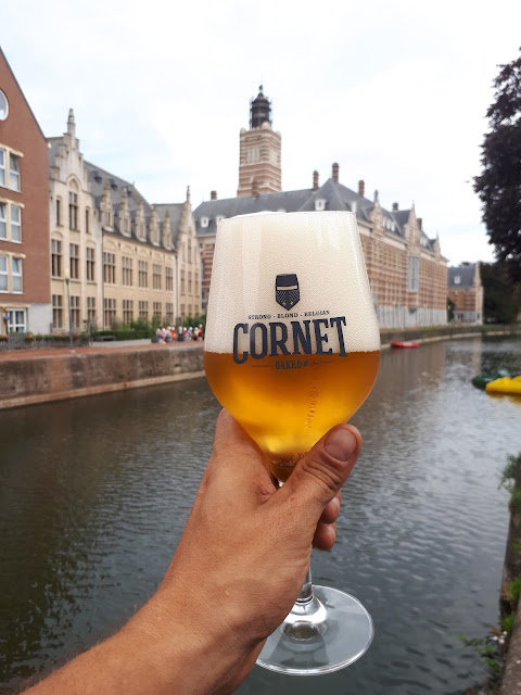 Cornet beer in Dendermonde, Belgium