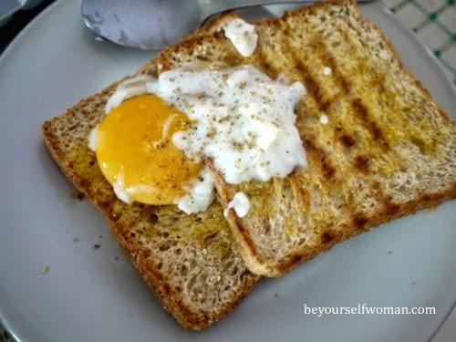 membuat perfect telur 1/2 matang