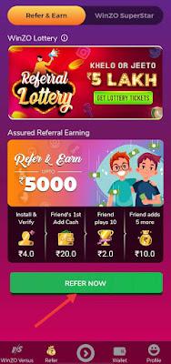 Winzo app - play games and earn money online | Download app | Reffer code