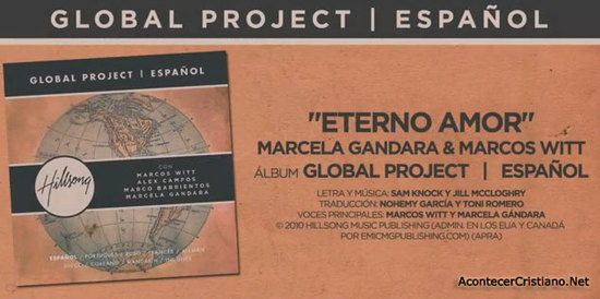 """Marcela Gándara y Marcos Witt cantan """"Eterno Amor"""" en proyecto de Hillsong (Video)"""