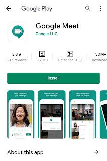 Google Meet Application Download