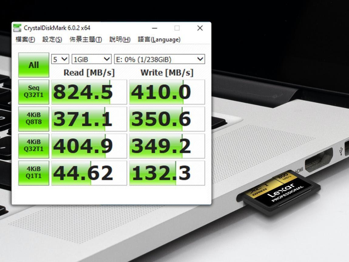 Тест скорости карт памяти Lexar SD Express