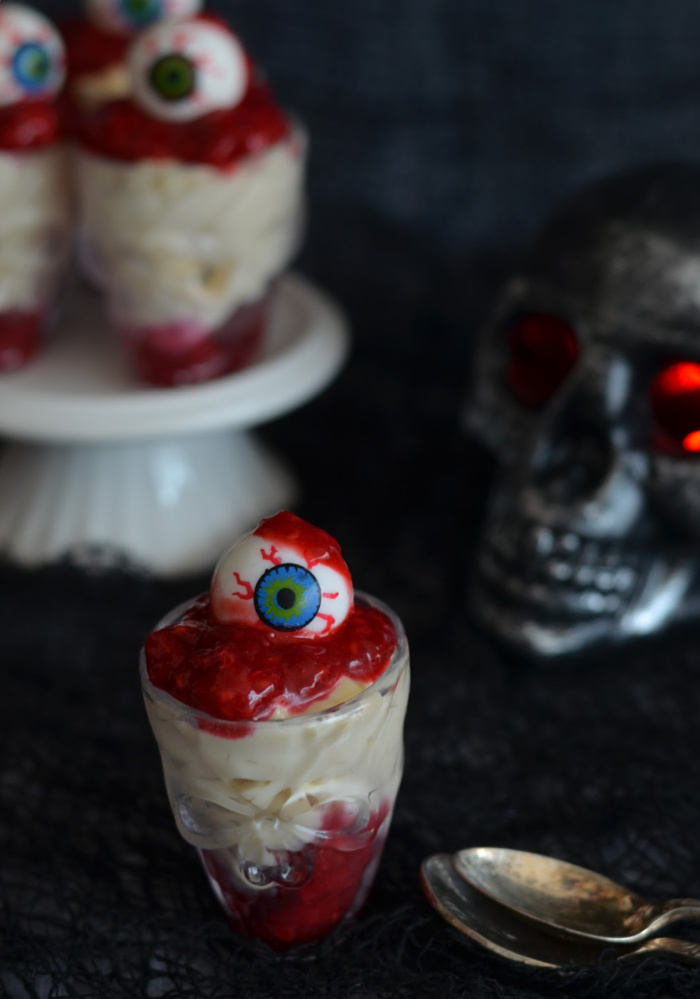 Bloodied Eyeball Dessert Shots
